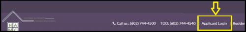 applicant login link screenshot